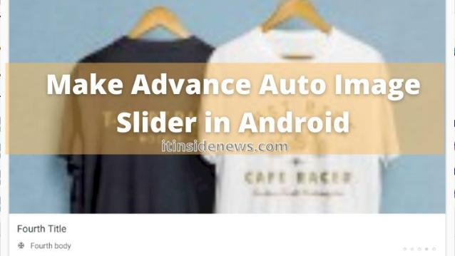 How to make auto image slider with viewpager in android studio