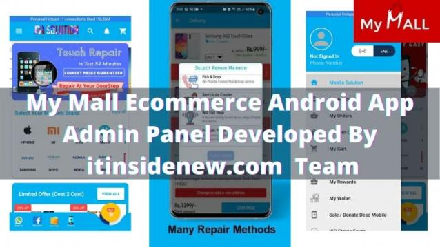 Free My Mall Android App Source Code. My Mall app Admin Panel On Demand.